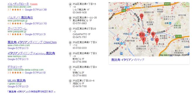 恵比須 イタリアンのマップ