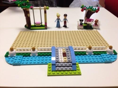 レゴ ディズニープリンセス シンデレラの城 41055 1袋完成
