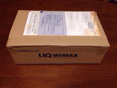 wimax こんな箱で届きます。
