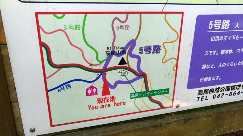下りは5号路をぐるっとまわって、6号路で下ろうと思います。