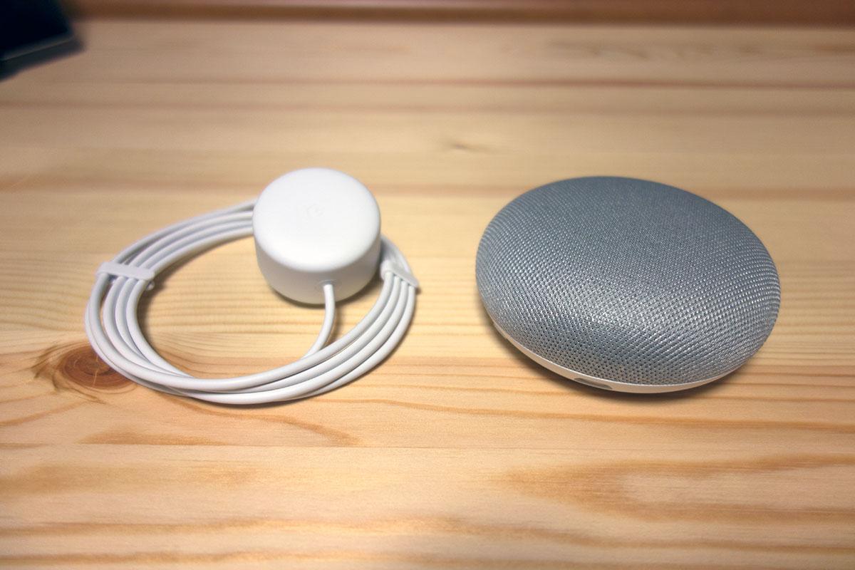 Google home mini の内容物